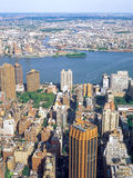 Aerial view of NYC. Stock Photo