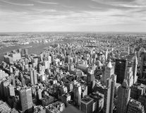 Aerial view of NYC. Royalty Free Stock Image