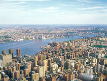 Aerial view of NYC. New York City, USA - June, 20: Aerial view of New York City from the Empire State Building Royalty Free Stock Photo
