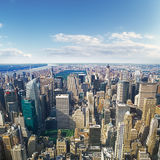 Aerial view of NYC. Stock Images