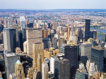 Aerial view of NYC. Stock Photos