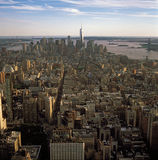 Aerial view of NYC at sunset. Royalty Free Stock Photography