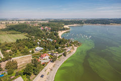 Aerial view of   Nysa lake  landscape Royalty Free Stock Photography