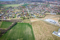 Aerial view of Nysa Poalnd Royalty Free Stock Photo