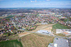 Aerial view of Nysa Poalnd Stock Photos