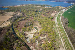 Aerial view of Nysa Poalnd Royalty Free Stock Photography