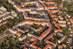 Aerial view of Nysa town in Poland Stock Photography