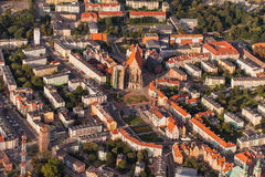 Aerial view of Nysa town in Poland Stock Image