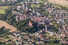 Aerial view of Nysa town in Poland Royalty Free Stock Photos