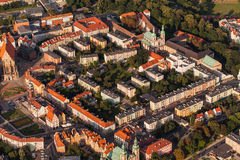 Aerial view of Nysa town in Poland Stock Photo