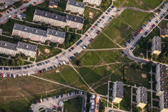 Aerial view of Nysa town suburbs in Poland Royalty Free Stock Photo