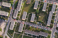 Aerial view of Nysa town suburbs in Poland. Aerial view of Nysa town suburbs  blocks in Poland Stock Photography