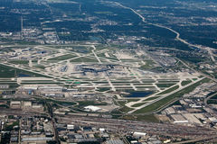 Aerial view of O'Hare Airport Stock Photos