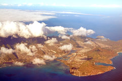 Aerial View of Oahu Hawaii Royalty Free Stock Images