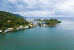 Aerial view of Oak, Ridge, in Roatan, Honduras stock photos