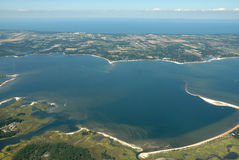 Aerial view of ocean. Aerial view of islands and ocean Royalty Free Stock Photography