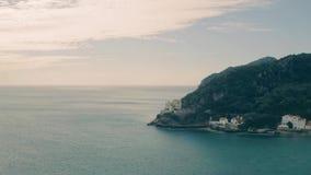 Aerial View Ocean Coastal Landscape. Of Nature Park Arrabida in Setubal, Portugal stock video footage