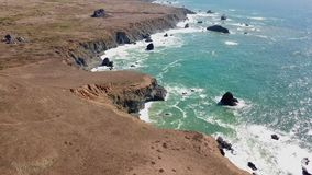 Aerial View of Ocean and Northern California Coast stock video