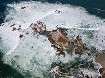 Aerial View Ocean and Rocky California Coast Stock Photos