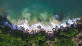 Aerial view on ocean shore Stock Photos