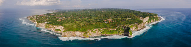 Aerial view on ocean shore Royalty Free Stock Photography