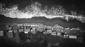 Aerial view on ocean shore Royalty Free Stock Photos