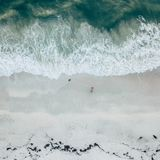 Aerial View of Ocean Wave Royalty Free Stock Photo