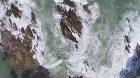 Aerial view of ocean waves Royalty Free Stock Photography