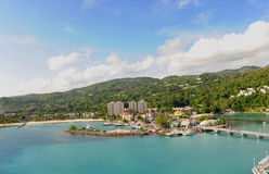 Aerial View of Ocho Rios Stock Photography