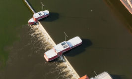 Aerial view of  Odra river in Wroclaw city Royalty Free Stock Photos