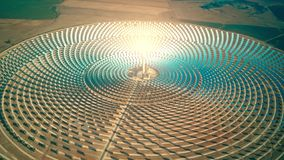 Free Aerial View Of A Modern Concentrated Solar Power Plant Stock Images - 129999424