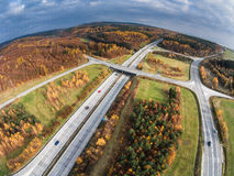 Aerial View Of A Road Stock Photo