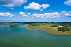 Free Aerial View Of Aland Islands At Summer Time. Finland. The Archipelago. Photo Made By Drone From Above. Nordic Natural Landscape Royalty Free Stock Photography - 155510167