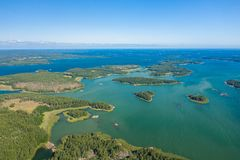 Free Aerial View Of Aland Islands At Summer Time. Finland. The Archipelago. Photo Made By Drone From Above. Nordic Natural Landscape Royalty Free Stock Photography - 155510247