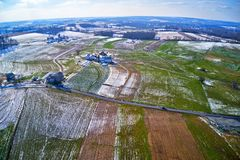 Aerial View Of Amish Farmland In Pennsylvania Royalty Free Stock Images