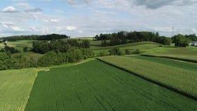 Aerial View Of Amish Farms And Farmhouses Lancaster County Pennsylvania Stock Photos