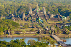 Aerial View Of Angkor Wat Royalty Free Stock Photos