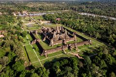 Free Aerial View Of Angkor Wat Temple, Siem Reap, Cambodia Royalty Free Stock Photography - 136328397