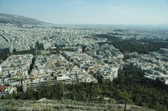 Free Aerial View Of Athens City, Greece. Aegean Sea At The Far Back Stock Photos - 161251983