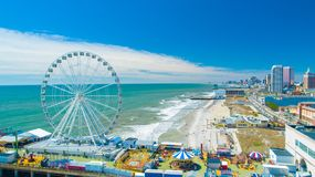 Free AERIAL VIEW OF ATLANTIC CITY BOARDWALK AND STEEL PIER. NEW JERSEY. USA. Royalty Free Stock Photography - 151739217