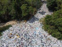 Free Aerial View Of Bad Environment With Many Trashes From People Stock Image - 180407811