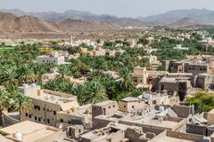 Aerial View Of Bahla Town, Om Royalty Free Stock Photos