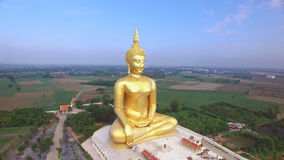 Aerial View Of Big Buddha Statue In Thailand Stock Photo