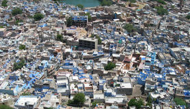 Aerial View Of Blue City, India Royalty Free Stock Photos