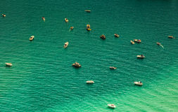 Free Aerial View Of Boats In The Lake Stock Photos - 73349523