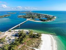 Free Aerial View Of Bridge At Anna Maria Island Stock Photography - 162224592