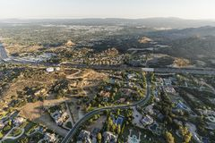 Aerial View Of Chatsworth In Los Angeles California Stock Photography