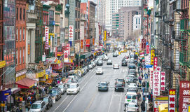 Free Aerial View Of Chinatown In New York City Stock Image - 53985191