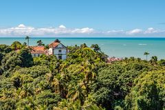Free Aerial View Of Church Of Our Lady Of Grace, Catholic Church Built In 1551, Olinda, Pernambuco, Brazil Stock Photography - 122529712