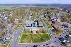 Aerial View Of Clarkson University, Potsdam, NY, USA Stock Photos